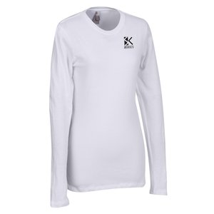 Next Level 3.8 oz. Long Sleeve Crew - Ladies' - Screen Main Image