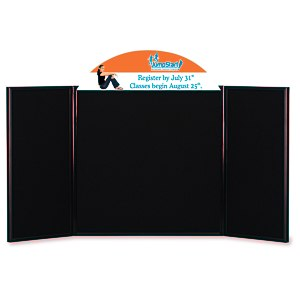 "Briefcase Tabletop Display with Curved Header - 24"" x 48"" Main Image"