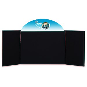 "Briefcase Tabletop Display with Curved Header - 24"" x 64"" Main Image"
