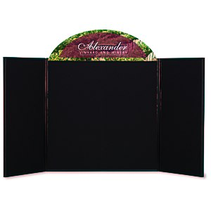 "Briefcase Tabletop Display with Curved Header - 32"" x 64"""