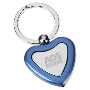 Metal Lighted Key Tag - Heart - Closeout Main Image