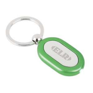 Metal Lighted Key Tag - Oblong - Closeout Main Image
