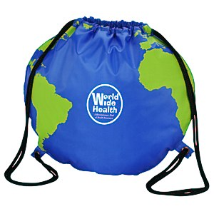Globe Drawstring Backpack Main Image