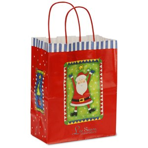 Holiday Gift Bag - Happy Santa