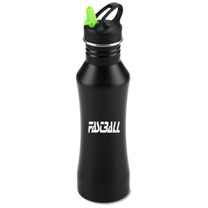 Sleek Black Stainless Sport Bottle - 24 oz. Main Image