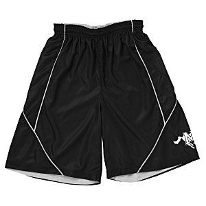 Smooth Mesh Reversible Spliced Shorts Main Image