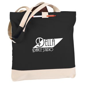 Contemporary Cotton Convention Tote - Closeout Main Image
