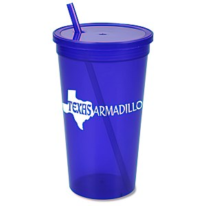 Stadium Cup with Lid & Straw - 32 oz. - Jewel Main Image