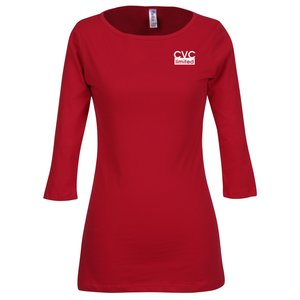 Bella 1/2 Sleeve Boatneck T-Shirt - Colors Main Image