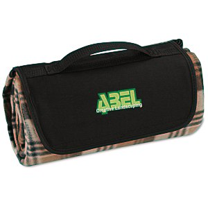 Roll-Up Blanket – Brown/Black Plaid with Black Flap Main Image