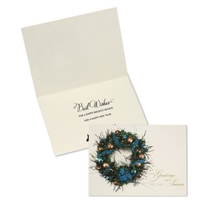 Ribbon & Wreath Greeting Card Main Image