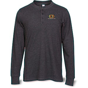 Bella+Canvas Long Sleeve Henley Main Image