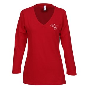 Bella Missy Fit 3/4 Sleeve V-Neck T-Shirt Main Image