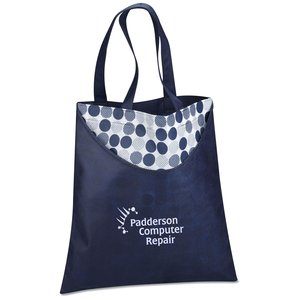 Designer Print Scoop Tote - Dots - Closeout Main Image