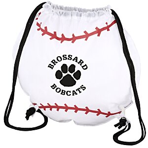 Game Time! Baseball Drawstring Backpack - 24 hr Main Image