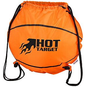 Game Time! Basketball Drawstring Backpack - 24 hr Main Image