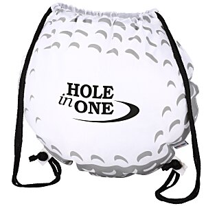 Game Time! Golf Ball Drawstring Backpack - 24 hr Main Image