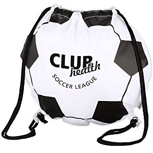 Game Time! Soccer Ball Drawstring Backpack - 24 hr Main Image