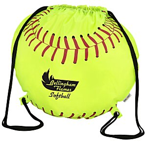 Game Time! Softball Drawstring Backpack - 24 hr Main Image