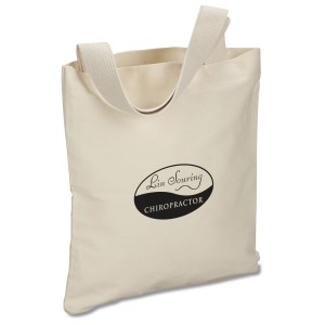 USA Made Bayside Promotional Tote - Natural - Screen Main Image