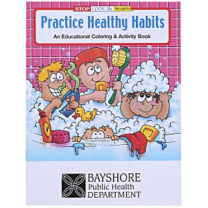 Practice Healthy Habits Coloring Book Main Image