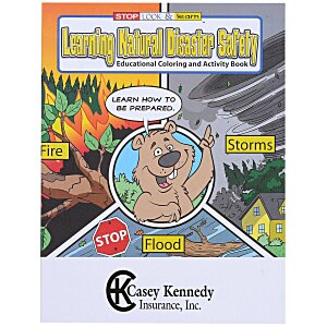 Learning Natural Disaster Safety Coloring Book Main Image