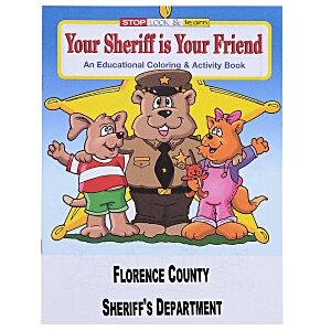 Your Sheriff is Your Friend Coloring Book Main Image