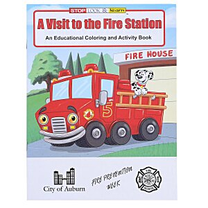A Visit to the Fire Station Coloring Book Main Image