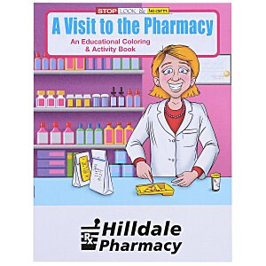 A Visit to the Pharmacy Coloring Book Main Image