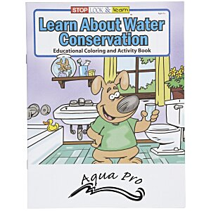 Learn About Water Conservation Coloring Book Main Image