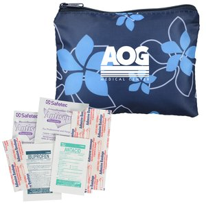 Fashion First Aid Kit - Navy Floral Main Image