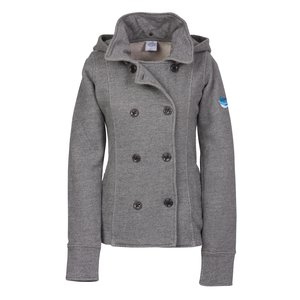 Independent Trading Co. Fleece Pea Coat - Ladies' Main Image