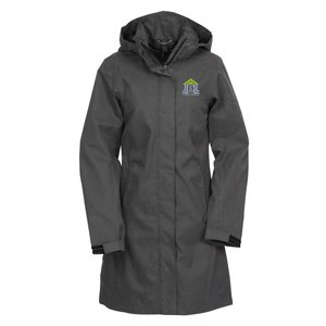 Savoie Hooded Twill Long Length Jacket - Ladies' Main Image
