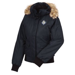 Hutton Insulated Hooded Bomber Jacket - Ladies' Main Image