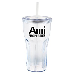 Fountain Soda Tumbler with Straw - 24 oz.