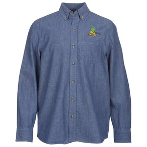 Button Collar Chambray Shirt - Men's Main Image