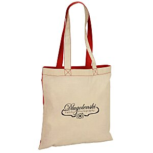 Lightweight Two-Tone Cotton Tote Main Image