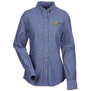 Button Collar Chambray Shirt - Ladies'
