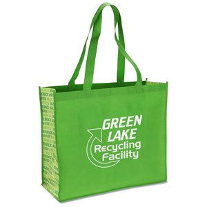 Non-woven Motif Carry All - Recycle - Closeout Main Image