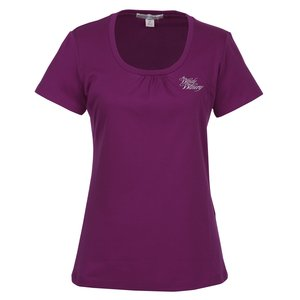 Silk Touch Interlock Scoop Neck T-Shirt Main Image