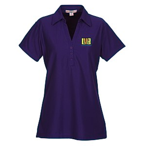 Vertical Texture Performance Pique Polo - Ladies' Main Image