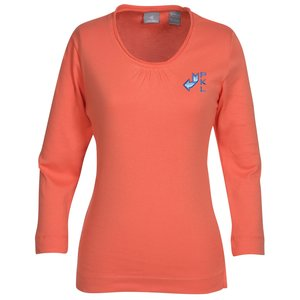Jockey 3/4 Sleeve Pima Scoop Neck Tee Main Image