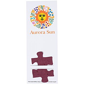 Plant-A-Shape Flower Seed Bookmark - Puzzle Piece Main Image