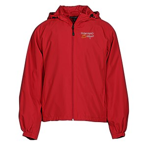 Hooded Raglan Athletic Jacket Main Image