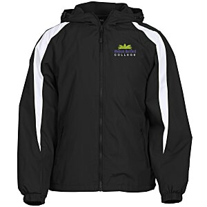 Athletic Fleece Lined Colorblock Jacket Main Image