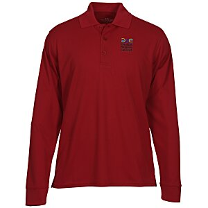 Vansport Omega Solid Mesh LS Tech Polo - Men's Main Image