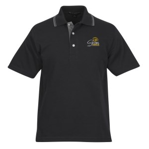 Rapid Dry Baby Pique Tipped Polo - Men's