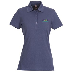 Ring Spun Cotton Slub Polo - Ladies' Main Image