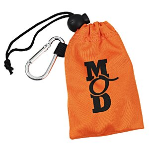 Flat Cord Ear Buds with Microfiber Pouch Main Image