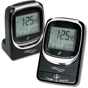 Global Atomic Travel Alarm Clock - Closeout Main Image